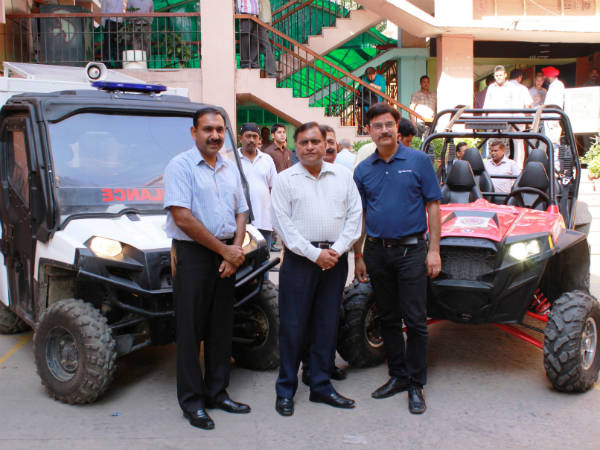 polaris vehicles for jammu and kashmir rescue operation