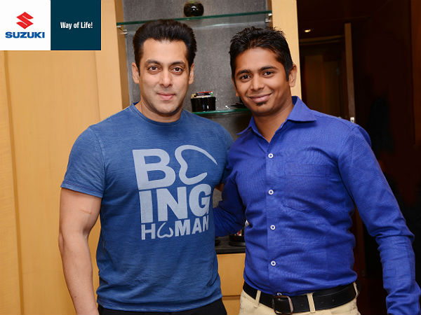 salman khan and suzuki contest winner