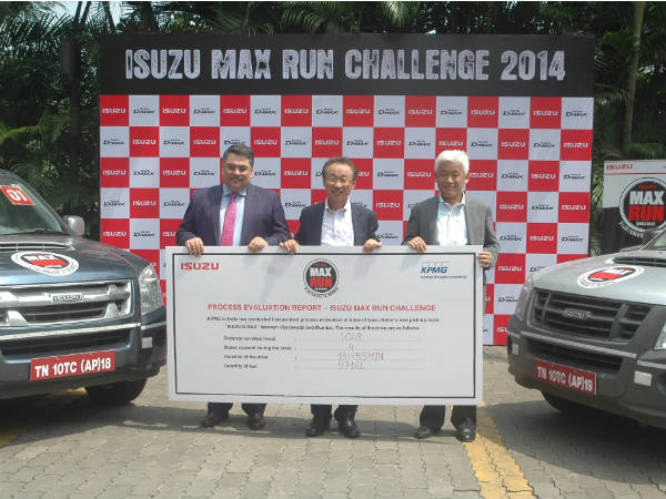 isuzu 1000 km journey