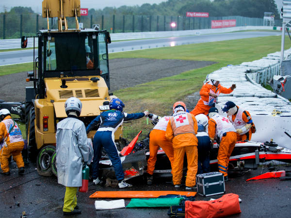 bianchi crashed during japanese grand prix