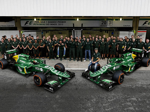 caterham f1 team in trouble
