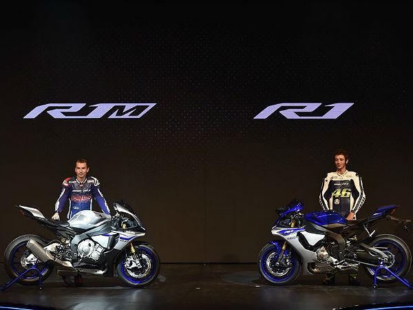 yamaha unveil their r1 r1m at 2014 eicma drivespark news