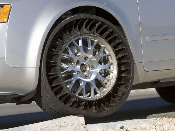Michelin Airless Puncture Proof Radial Tyres To Be Mass