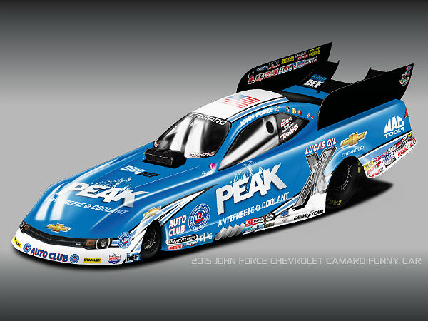 john force funny car racing