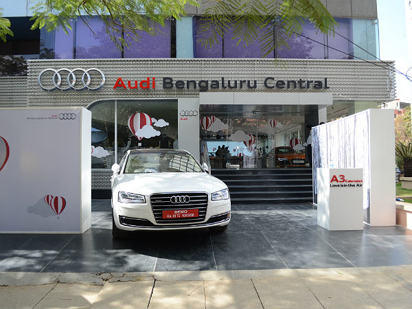 Audi A Cabriolet Launched In Bangalore Pricing Specs Features - Audi car showroom
