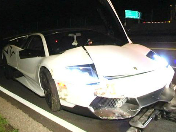 One Of Three Manual Lamborghini Murcielago Svs Crashed Drivespark