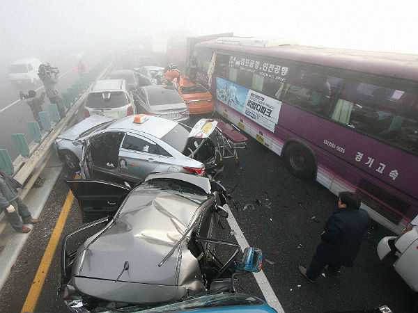 south korea car accident