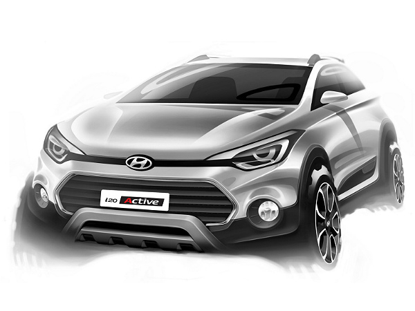 Hyundai I20 Active Teased In A New Sketch Prior To India Launch