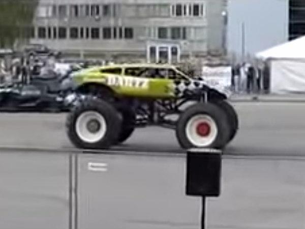 Lamborghini Monster Truck Eats Sedans For Breakfast , DriveSpark