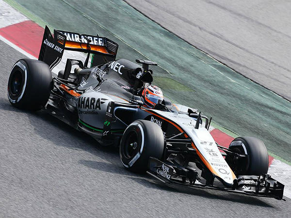 force india barcelona test