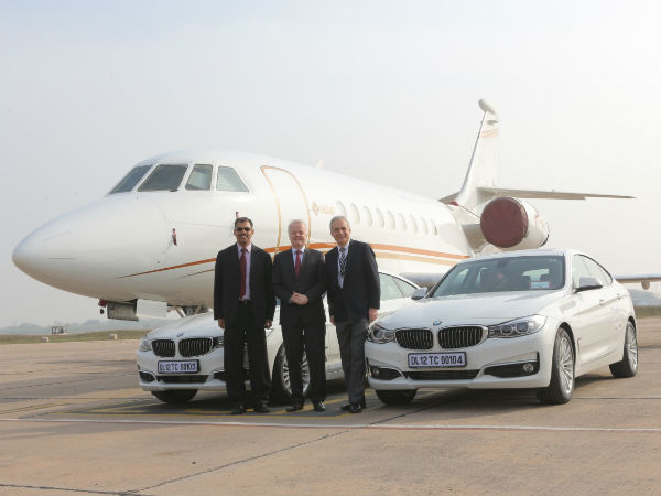 bmw luxury vehicle at delhi airport