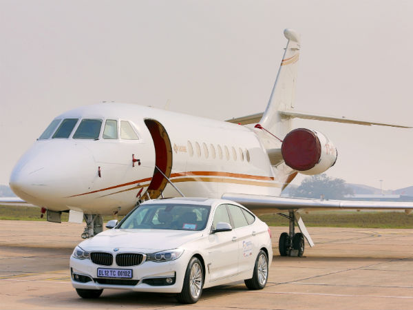 bmw vip car at delhi airport
