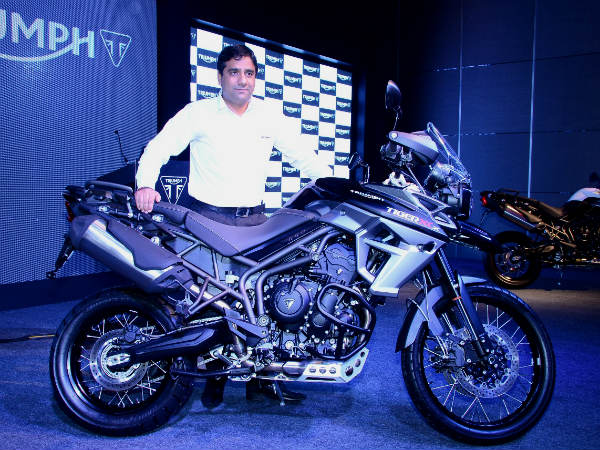triumph motorcycles tiger launch india