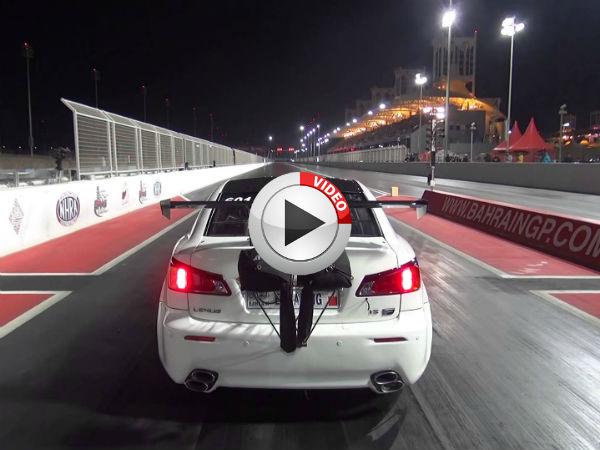 Lexus Is F Twin Turbo Takes Flight During Drag Race