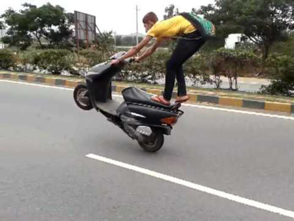 8. Performing stunts on public roads: