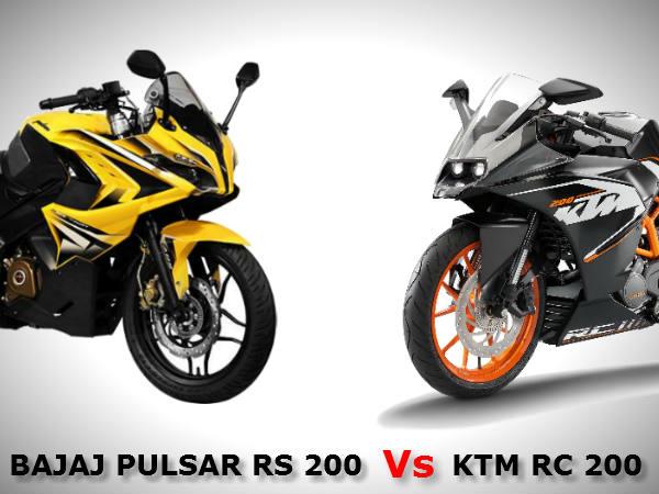 Bajaj Pulsar RS 200 Vs KTM RC 200 Comparison