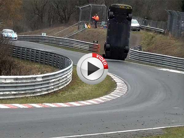 Nissan Gtr Race Car Crash At The Nurburgring
