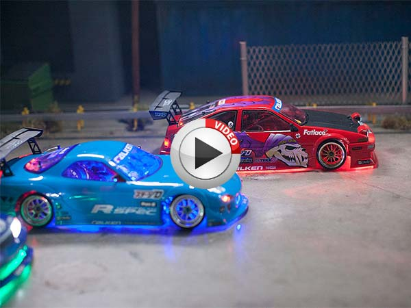 Menacing Rc Drift Cars Come Out To Play In The Night Drivespark