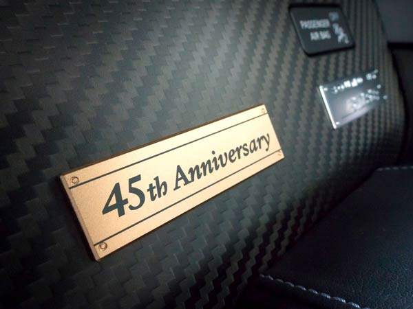 nissan gtr 45th gold edition badge