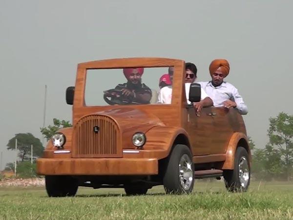 Indian Carpenter Builds Street Legal Wooden Car Drivespark