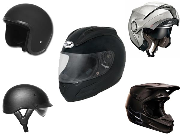 What types of helmets are there?