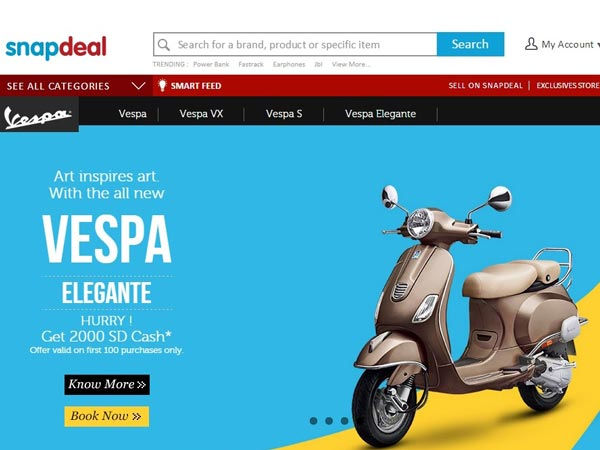 vespa snapdeal deal