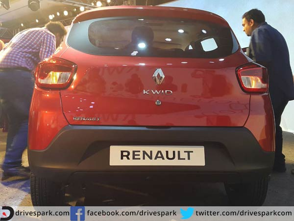 renault kwid back profile