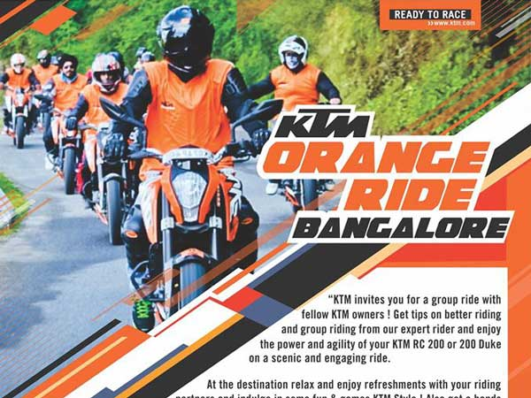 ktm orange day bangalore