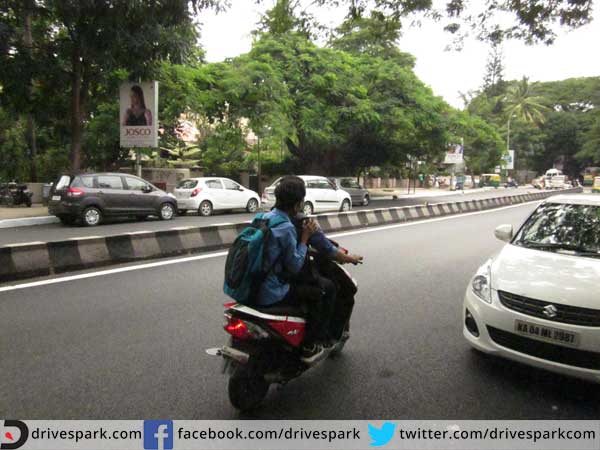 4. Only rider wearing a helmet and not pillion: