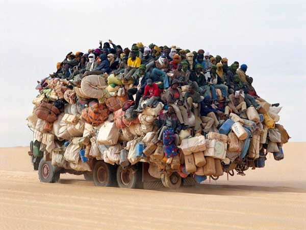 7. Overloading vehicles: