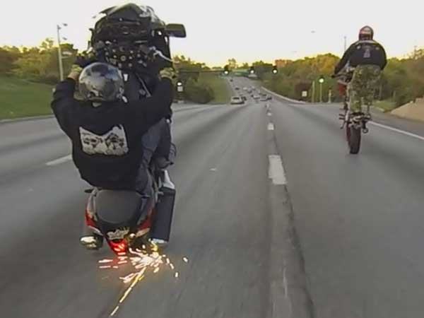 15. Stunts on public roads: