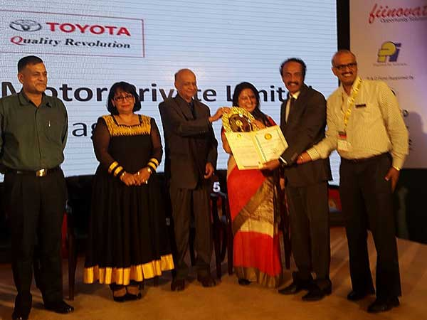 toyota win golden peacock award