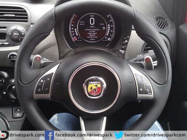 fiat 595 abarth competizione steering wheel