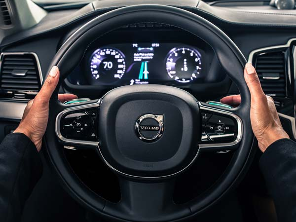 volvo self drive user interface