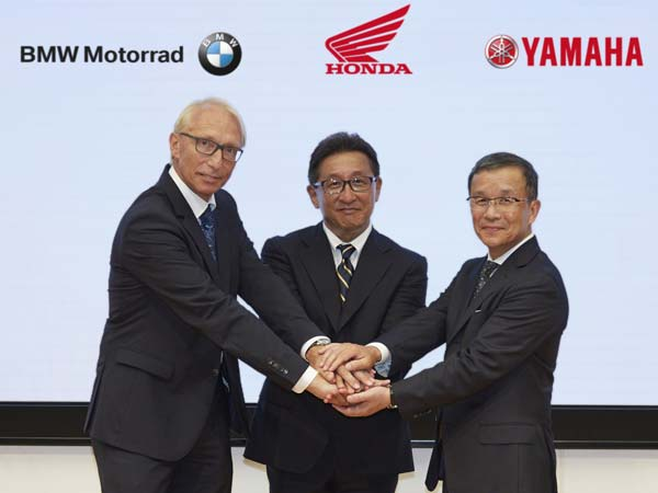 bMW, honda & yamaha collaborate
