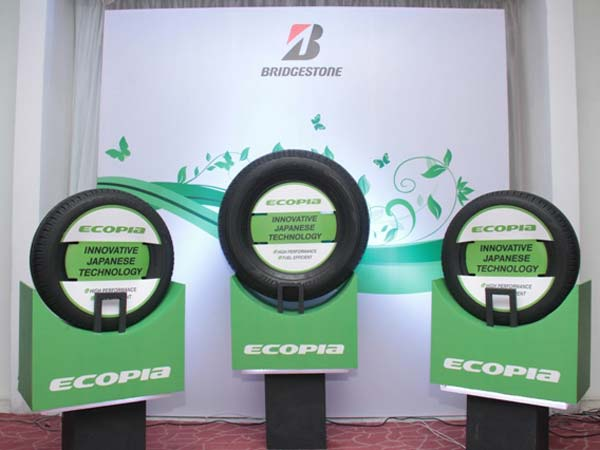 bridgestone ecopia tyres in display