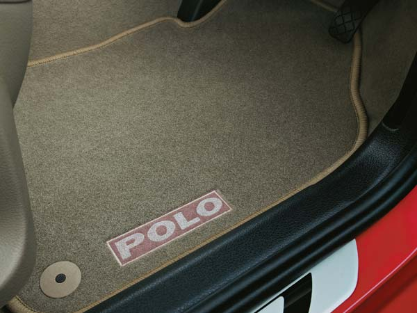 volkswagen polo exquisite limited edition badge on floor