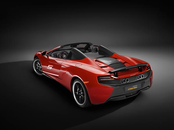 mclaren 650s can am limited edition rear profile