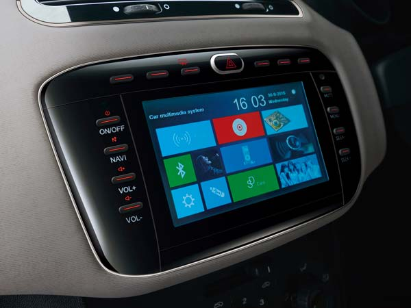 fiat punto sportivo entertainment system