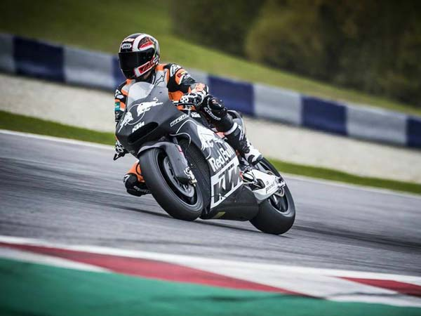 ktm rc16 motogp in action