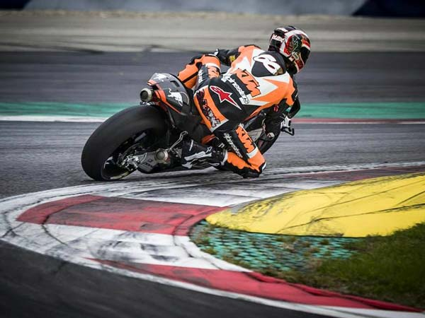 ktm rc16 motogp on track