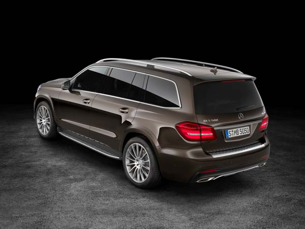 mercedes benz gls suv rear profile