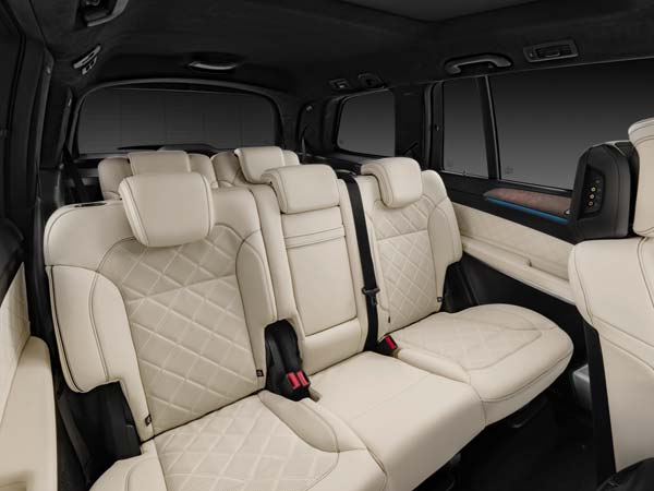 mercedes benz gls suv rear seat