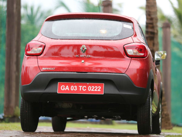 renault kwid rear profile