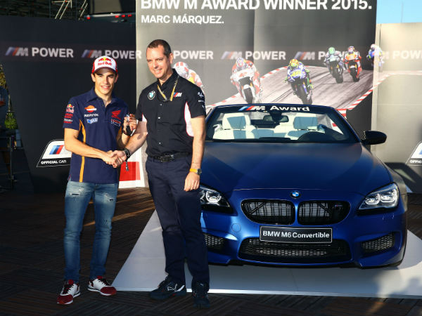 marques recieves bmw award