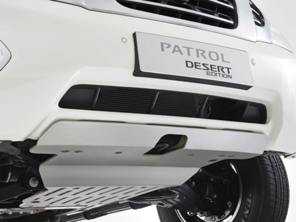 nissan patrol desert edition front and rear skid plates