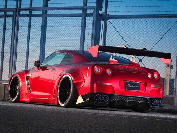 liberty walk nissan gtr rear