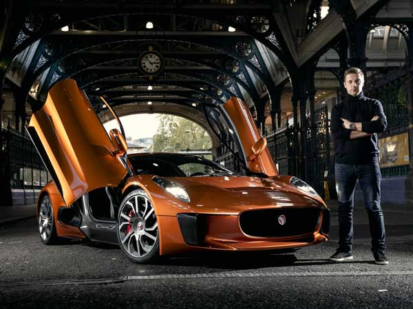 jaguar c-x75 supercar front profile