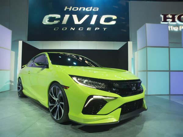 honda civic coupe front profile