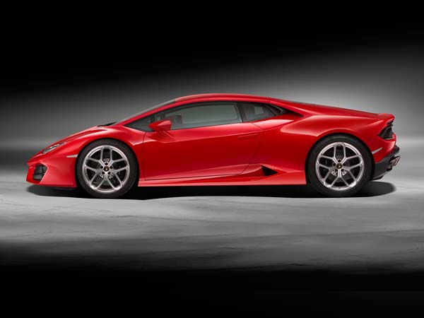 la motor show lamborghini huracan lp580-2 2016 model side profile